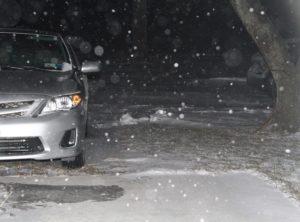 Snowfall in Geneseo. (Photo/Conrad Baker)