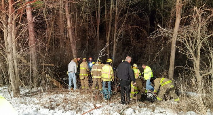 Firefighters Free Trapped Victim from West Sparta Christmas Eve Rollover