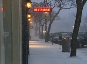 Even downtown Geneseo felt a squall. (Photo/Conrad Baker)