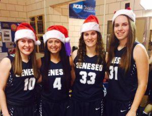 Willaims with freshman teammates Madison McCulley, Sara Ciotti, and Natalie DiSalvo. (Photo/Facebook)