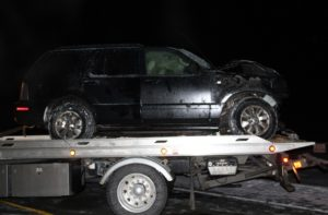 The victim's vehicle. (Photo/Conrad Baker)