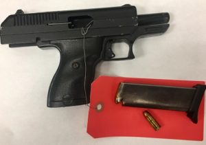 The handgun. (Photo/Mount Morris Police Department)