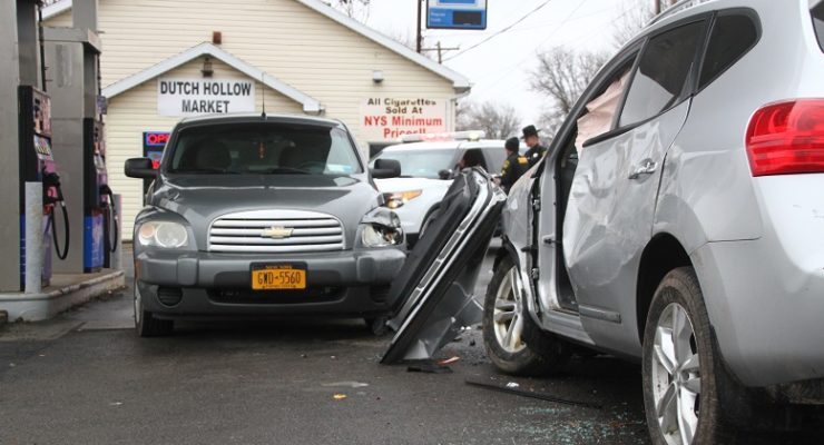 Sick Driver Hits Car Pumping Gas at Dutch Hollow Market