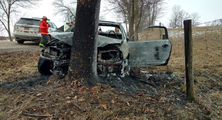 Live Ammo, Paraphernalia Fly from Burning Car in Geneseo
