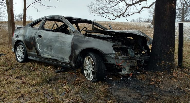 Cops Arrest Driver for Hiding Bong at Geneseo Car Fire