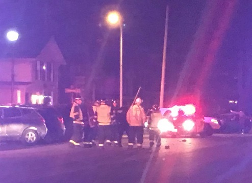 Car Hits Pedestrian on Main Street Geneseo