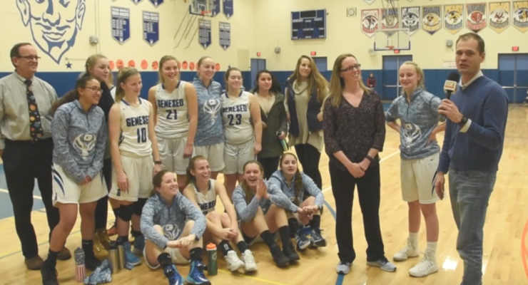 GIRLS BASKETBALL: Geneseo Defeats Perry 40-16 After Coach Makes Special Delivery
