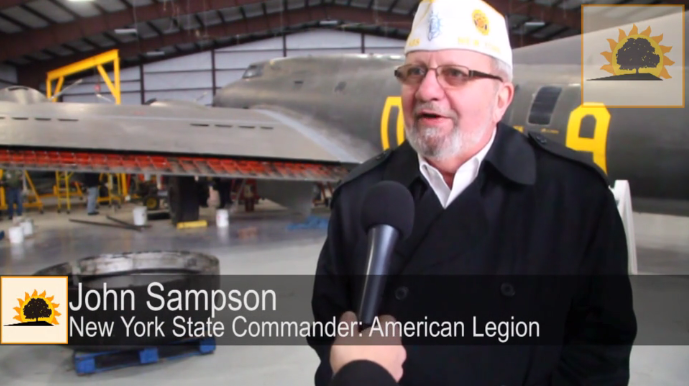 SUN VIDEO: National Warplane Museum Hosts NYS American Legion Commander