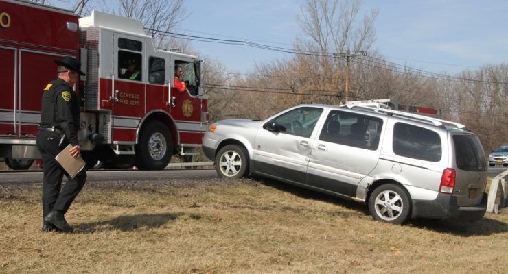 Van with Kids Hits Car Near Geneseo's Court Street and Rte. 63