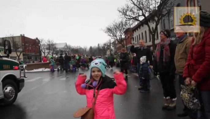 SUN VIDEO: Luck of the Irish Clears Sky for Geneseo's St. Patrick's Day Parade