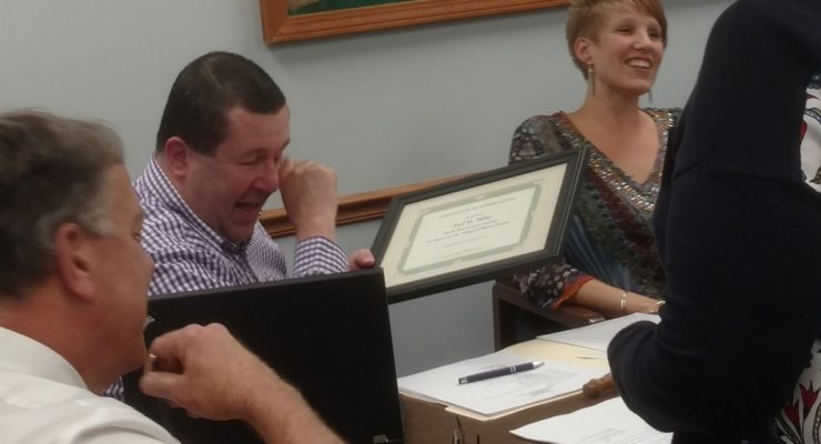 Mayor Mike Tearfully Passes Torch to New Board