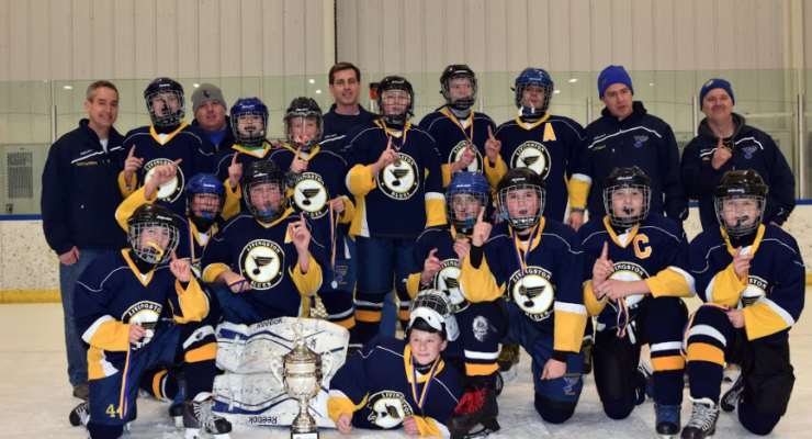 Livingston Blues PeeWee Hockey Team Wins Webster Tournament