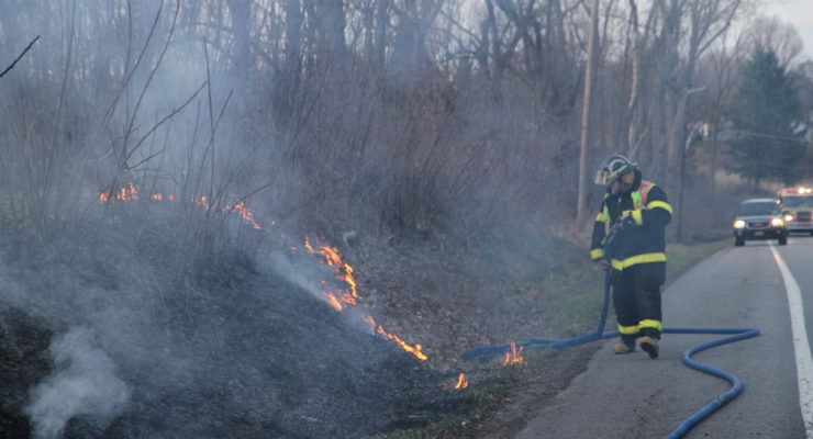 Grass Fires Spring Up on Leicester Road