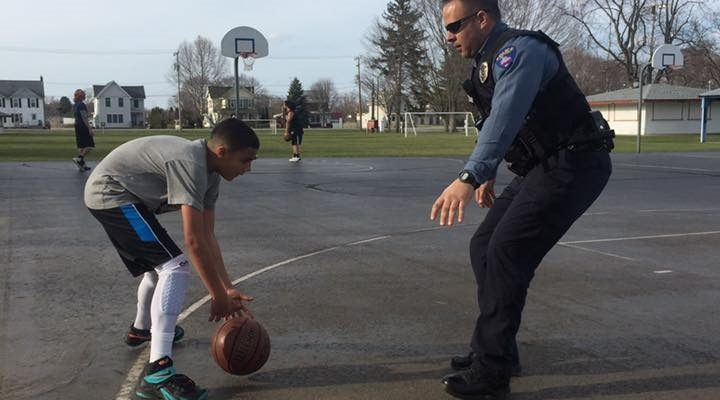 WATCH: Mount Morris Loves Cop's Pickup Basketball with Local Kid