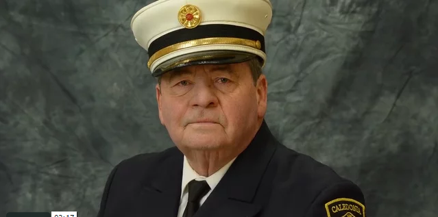 WATCH: Caledonia Bids Farewell to Former Fire and Police Chief 'Torp'