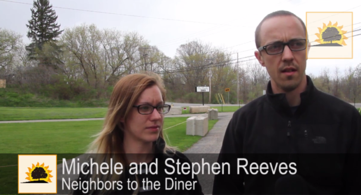 SUN VIDEO: Our Family Diner Legally Blocks in Neighbors' Driveway