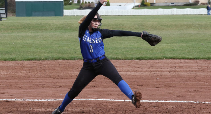 SOFTBALL: Ruskauff Pitches Blue Devils to Victory Over Braves