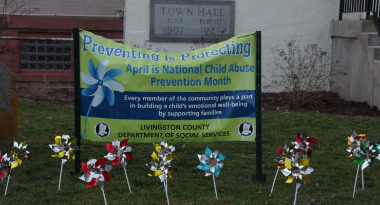 Pinwheels and Talks Stand to Prevent Child Abuse in Livingston County