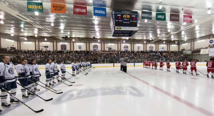SUNY Geneseo in the Semifinals to Become Hockeyville USA