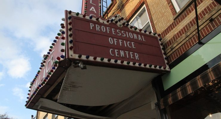 Geneseo's Historic Palace Marquee Cracks from Wall During Wine Stroll