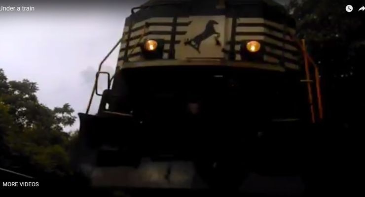 WATCH: Nunda Man Braves Powerful Train to Catch Awesome Video from Tracks
