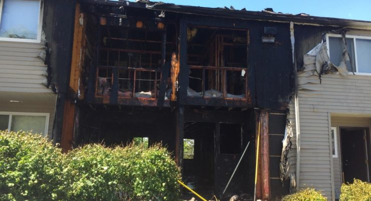Fire Ruins Building at Geneseo's Highlands Apartments