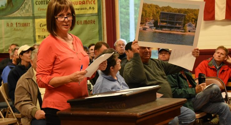 Over 100 Watch Locals Chew Out Town of Conesus on Proposed Zoning Changes