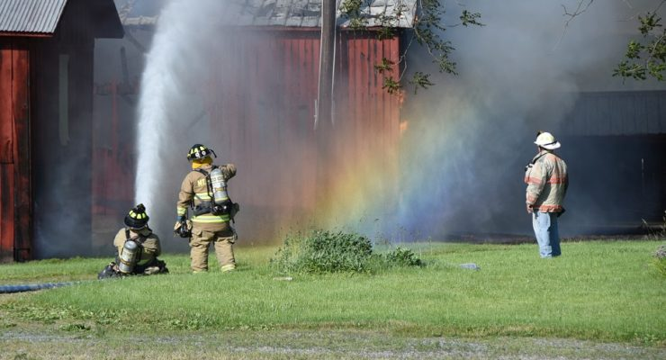 Mount Morris Chief: 'Heck of a Job' Saved Big Barn from Blowing Fire