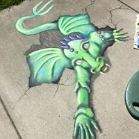 Dansville's ArtsFest 2017 to Leave 101 Feet of Chalk Art on Sidewalk