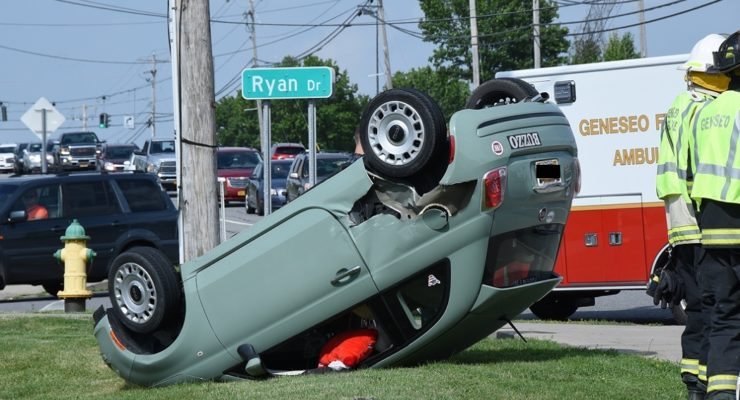 Puzzling Crash Rolls Car in Geneseo