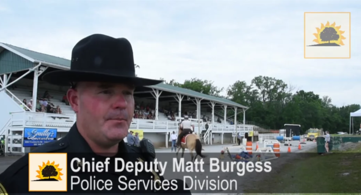 SUN VIDEO: Cops and Horses Top Obstacles at Hemlock Fair's Mounted Competition