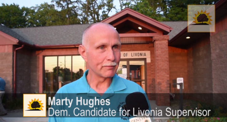 SUN VIDEO: Livonia Dems Designate Marty Hughes for Supervisor