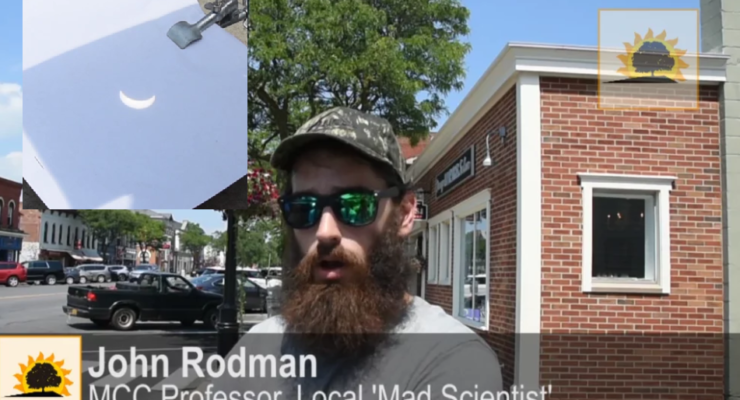 SUN VIDEO: Professor/'Mad Scientist' Safely Captures Eclipse in Geneseo