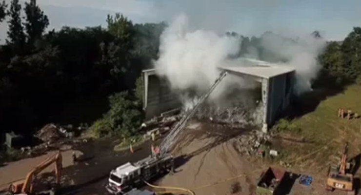 Firefighter Video Shows Caledonia Barn Fire