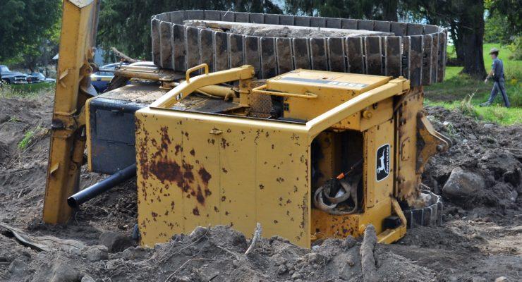 Bulldozer Rollover Sends 1 to Hospital