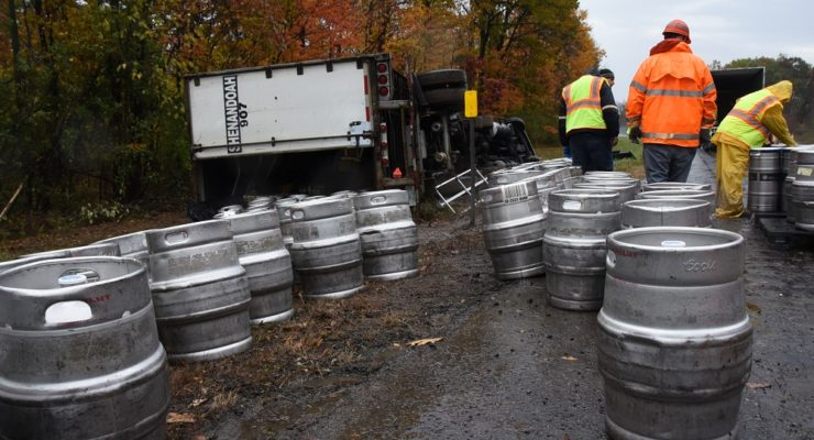 Heroin May Have Caused Beer Truck Rollover on 390