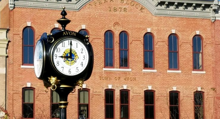 Avon Lions Club Dedicates Centennial Clock to Village and Town