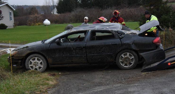 Nunda Rollover Injures Driver