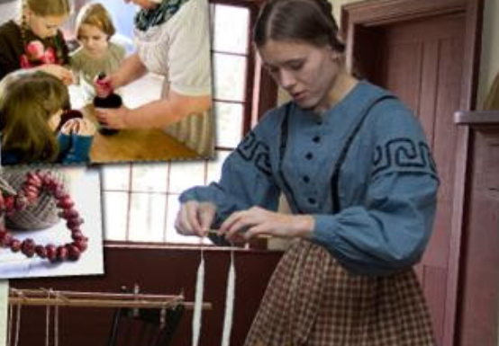 Kids Watch Classic Christmas Preparations Free at Genesee Country Village and Museum