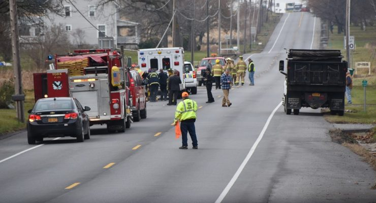 York Pole Crash Injures Driver, Closes 63