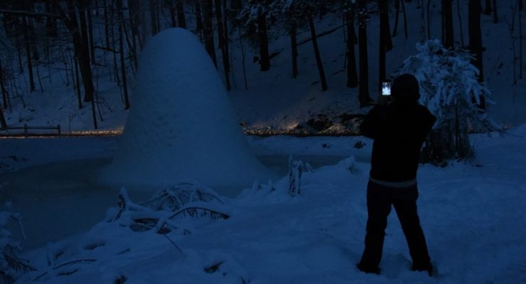 Letchworth's Ice Volcano Grows to Near 20 Feet