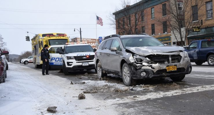 Crash Clogs Traffic on Main Street Mount Morris