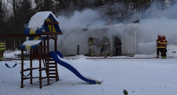 Mount Morris Garage Burns in Subzero Windchills
