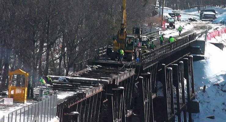 End of the Line: Crews Taking Down Letchworth Trestle