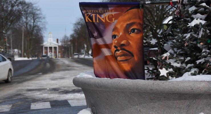 Brief Reading, Flags Mark Martin Luther King Jr. Day for Geneseo