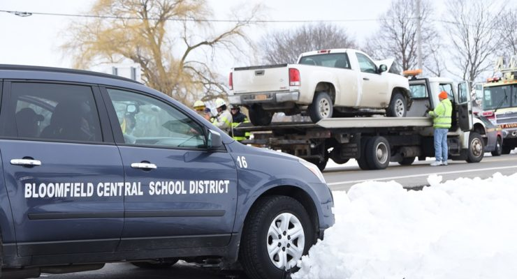 Pickup Hits Driver Ed Van on Geneseo Town Line