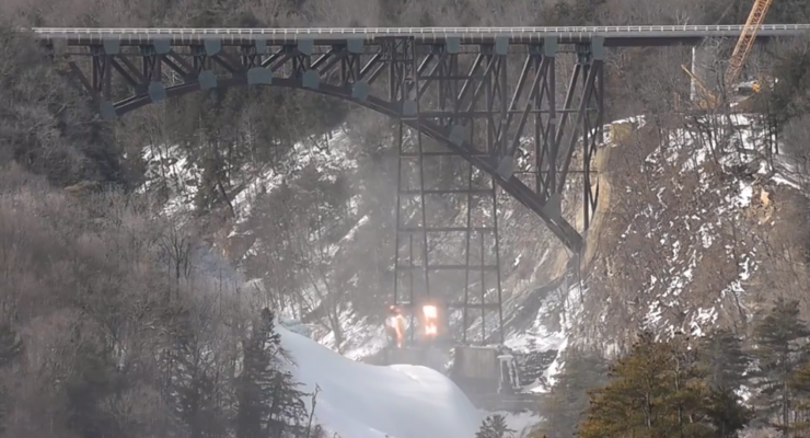 WATCH: Final Letchworth Trestle Tower Falls to Explosives
