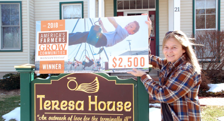 Teresa House Receives $2,500 Grant from America's Farmers Grow Communities