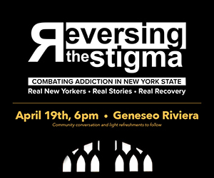 Free showing of 'Reversing the Stigma' at the Geneseo Riviera April 19th