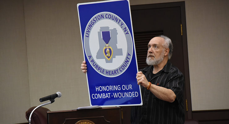 Purple Heart County Signage Presented to Public Services Committee